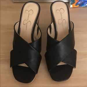 Jessica Simpson wedge slides